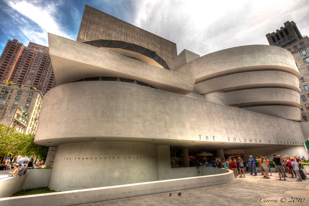 The museum of Modern and Contemperary art . IT has been Called the most significant architectural icons of the 20th century . It was designed by Frank Lyod Wright