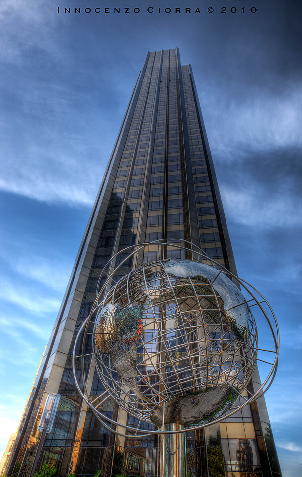 Part of my photo walk this day , I passed by Trump tower international on central park west . I love the Globe art in front . . I tried to center the building but had a news stand to left of me so this was as close to center .<br /> <br /> Of a few in series from my photowalk in Manhattan's Central Park West , This area in particular is columbus Circle in Midtown Manhattan .  I am simply uploading what I call a a few intersting shots and not going to submit to multiple groups , invites and comments are more than encouraged and welcome . Thank you for your interest . Jimmy