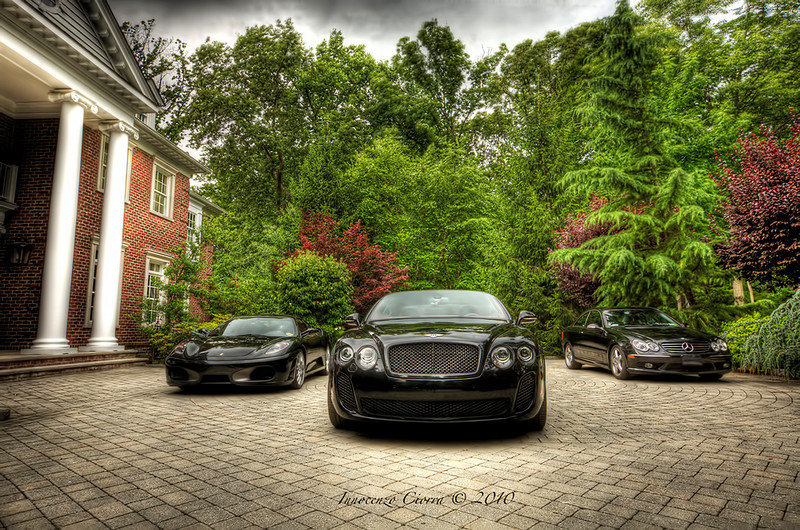 Stopping by my friends home to be surprised at these lovely exotics in front of his testate . The benz is mine , Not sure if its an exotic .<br /> <br /> 5 raw image HDR in manual model