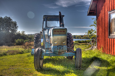 Old Ford tractor in Stockholm, Sweden archipelago