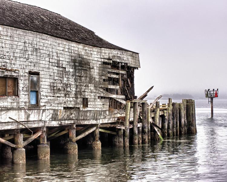 Deserted Pier. Sonoma County Coast.