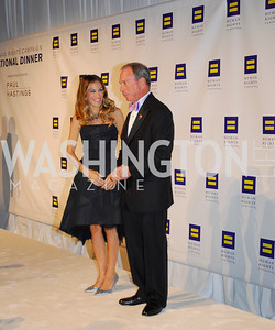 Sarah  Jessica Parker,Michael Bloomberg,HRC Gala ,October 1,2011,Kyle Samperton