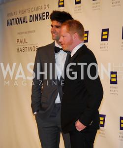 Justin Mikita,Jesse Tyler Ferguson,HRC Gala ,October 1,2011,Kyle Samperton