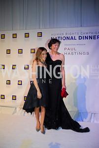 Sarah  Jessica Parker,Diana Taylor,HRC Gala ,October 1,2011,Kyle Samperton