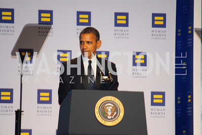 President Barack Obama,HRC Gala ,October 1,2011,Kyle Samperton