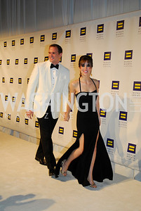 Hudson Taylor,Leah Taylor,HRC Gala ,October 1,2011,Kyle Samperton