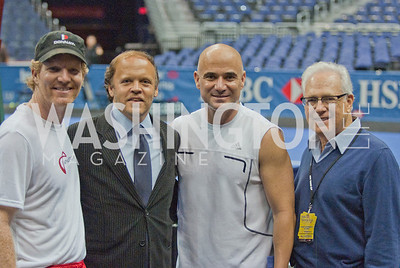 Andre Agassi, Jim Courier, Larry Magid, Mark Ein