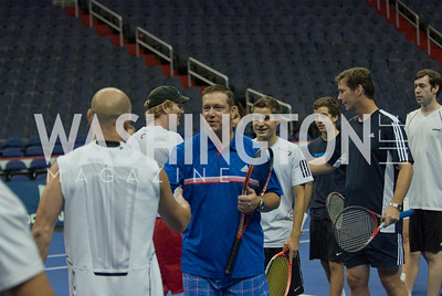 Andre Agassi, Chris Guach, Christian Milett, jim Courier, Ken Clark, Michael Gauch, Pete Smith