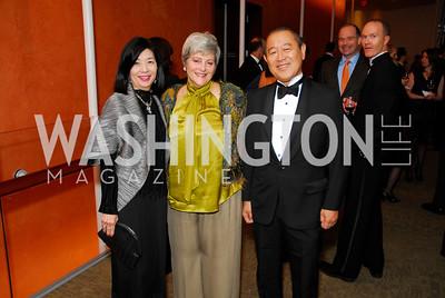 Yoriko Fujisaki, Martha Ann Alito, Ichiro Fujisaki, Harmon Center Gala, October 17, 2011, Kyle Samperton