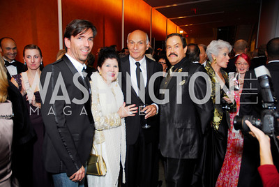 Charles Mitchem, Judith Terra, Maichael Kahn, Jose Albert Veles, Harmon Center Gala, October 17, 2011, Kyle Samperton