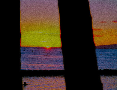grainey sunset
