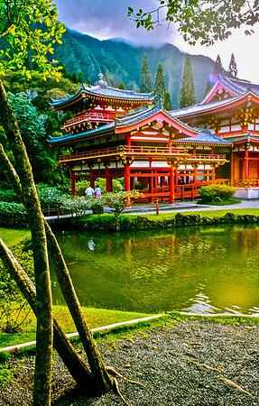 shrine foreground pool
