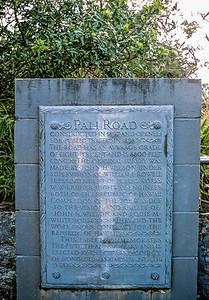 Pali Rd marker