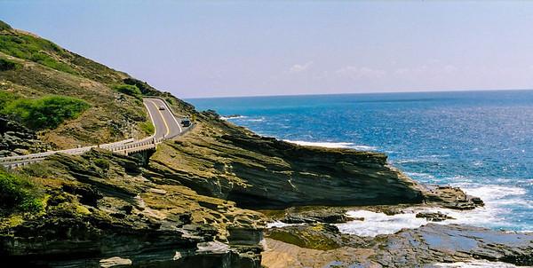 North Shore, drive along Pacific Ocean.