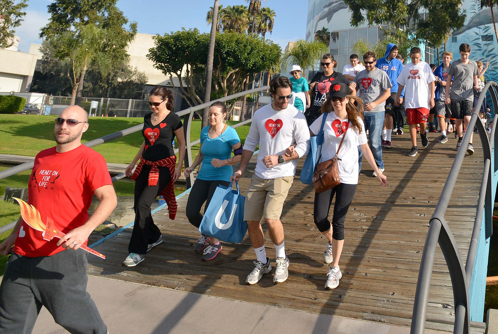 . Greater Los Angeles Heart Walk at Rainbow Lagoon Park in Long Beach , CA. on Sunday, November 10, 2013. (Photo by Sean Hiller/Press Telegram).