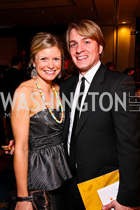Chelsea Krombach, Geoff Packard. Helen Hayes Awards After Party. Photo by Tony Powell. JW Marriott. April 25, 2011