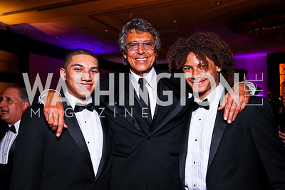 John Manzari, Tommy Tune, Leo Manzari. Helen Hayes Awards After Party. Photo by Tony Powell. JW Marriott. April 25, 2011