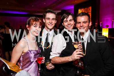 Synetic Theatre's Kathryn Connors, Matthew Ward, Josh Rosenblum, Alex Mills. Helen Hayes Awards After Party. Photo by Tony Powell. JW Marriott. April 25, 2011