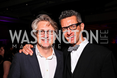 Eric Schaeffer, James Moore. Helen Hayes Awards After Party. Photo by Tony Powell. JW Marriott. April 25, 2011