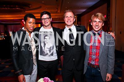 Lewis Feemster, John Noletress, Jonathan Biber, Scott Comer. Helen Hayes Awards After Party. Photo by Tony Powell. JW Marriott. April 25, 2011