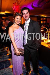 Cyana Paolantonio, Brian Sutow. Helen Hayes Awards After Party. Photo by Tony Powell. JW Marriott. April 25, 2011