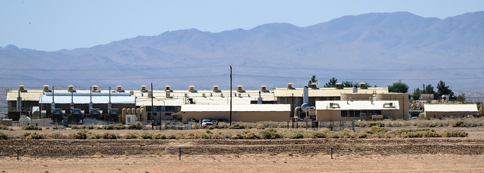 . A distant view of the Pacific Gas & Electric compressor station in Hinkley, Calif. on Thursday, May 2, 2013. (Rachel Luna / San Bernardino Sun)