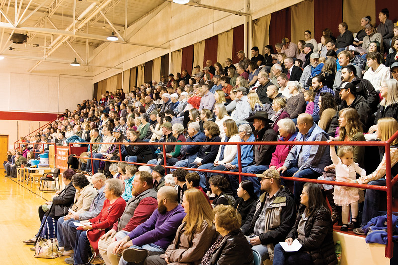 Matthew Gaston | The Sheridan Press<br>The gym at Holy Name Catholic School was packed to capacity for the Christmas program Thursday, Dec. 20, 2018.