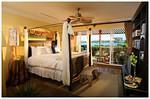 Hotel bedroom.
