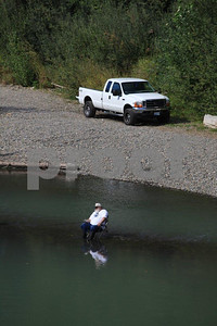 Salmon fishing on the Nisqually River, Washington State