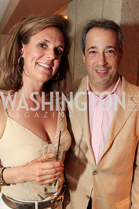 Jill Trimble, Scott Dreyer. IMPACT Arts+Film Fundís dinner with Ian Somerhalder. Photo by Alfredo Flores. Blue Duck Tavern. April 27, 2011