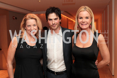 Edey Emery, Ian Somerhalder, Susanna Quinn. IMPACT Arts+Film Fundís dinner with Ian Somerhalder. Photo by Alfredo Flores. Blue Duck Tavern. April 27, 2011