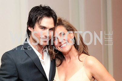 Ian Somerhalder, Jill Trimble. IMPACT Arts+Film Fundís dinner with Ian Somerhalder. Photo by Alfredo Flores. Blue Duck Tavern. April 27, 2011