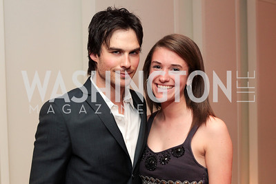 Ian Somerhalder, Sissy Droyer. IMPACT Arts+Film Fundís dinner with Ian Somerhalder. Photo by Alfredo Flores. Blue Duck Tavern. April 27, 2011