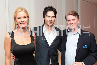 Susanna Quinn, Ian Somerhalder, Jack Quinn. IMPACT Arts+Film Fundís dinner with Ian Somerhalder. Photo by Alfredo Flores. Blue Duck Tavern. April 27, 2011