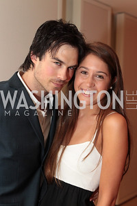 Ian Somerhalder, Casssie Trimble. IMPACT Arts+Film Fundís dinner with Ian Somerhalder. Photo by Alfredo Flores. Blue Duck Tavern. April 27, 2011