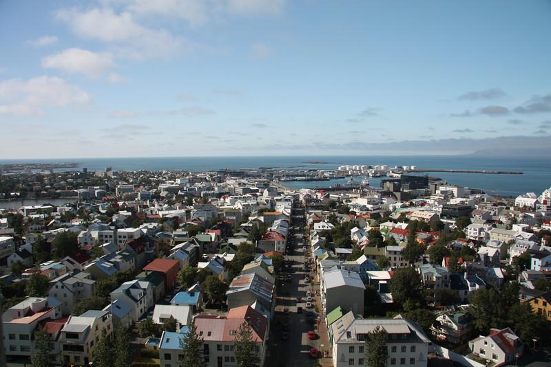 View of the city from Hallgrimskirkja Church, Reykjavik