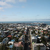 View of the city from Hallgrimskirkja Church, Reykjavik