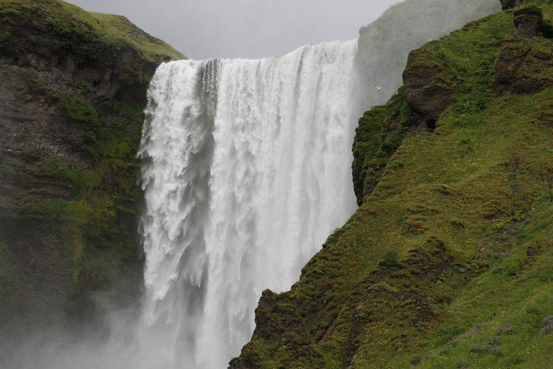 Skógafoss, Forest Waterfalls, South Iceland.  A funny name for a place where there are no trees.