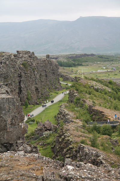 Þingvellir National Park, where the North American and European continental plates are tearing apart.