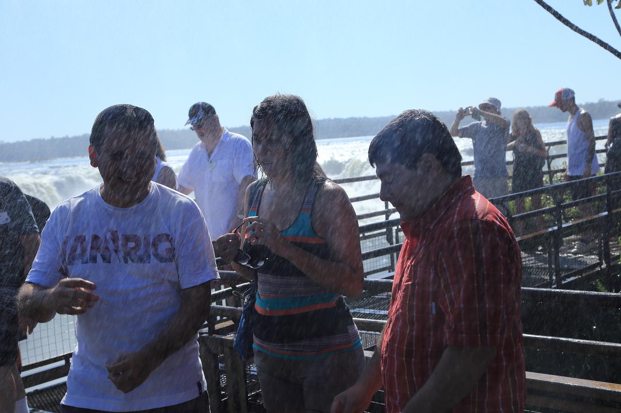 Heavy spray from the falls: Iguazú Falls,  Argentina