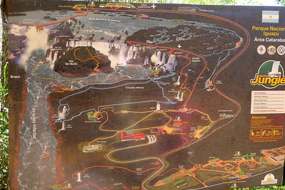 Map: Iguazú Falls,  Argentina