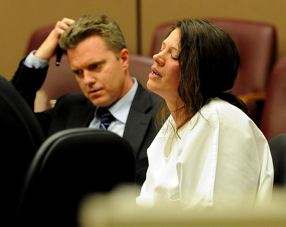Traci Housman cries during the sentencing hearing on April 23, 2010.<br /> Traci Housman was given 7-years probation as part of the sentencing for her role in the death of her husband John Housman.<br /> Cliff Grassmick / April 23, 2010