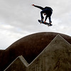 Dominic Morgan displays his skateboard prowess  at the  newly opened Lafayette Skateboard Park on Wednesday, December 15, 2010.<br /> Cliff Grassmick / December 15, 2010
