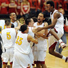 Sierra players celebrate a repeat 4A Colorado State Championship.<br /> <br /> Cliff Grassmick / March 13, 2010