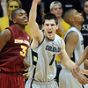 "Nate Tomlinson celebrates the Colorado win over Iowa State on Saturday.<br /> For more  photos of the game, go to  <a href=""http://www.dailycamera.com"">http://www.dailycamera.com</a>.<br /> Cliff Grassmick / February 27, 2010"