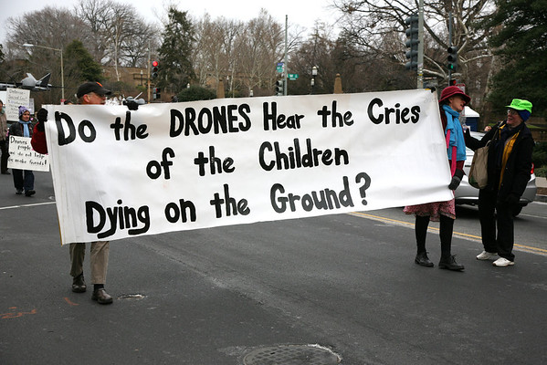Inauguration Day Washington D.C. 2013 Protesting Murder by Drone