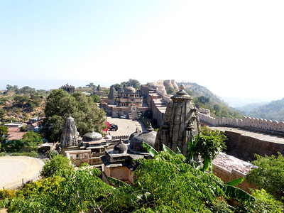 Fort Kumbalgarh, This thing is massive!!! 15th century. Look at the width of these walls.