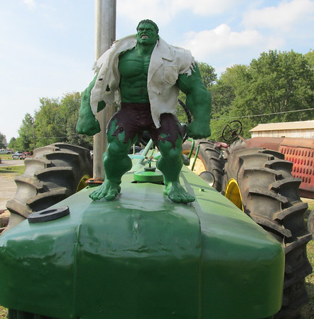 Part of this area is where the Johnson County Antique Machinery Assn. holds their annual show. The generally have a few tractors making an appearance at the HeartNut event also. This year The Hulk made the show.