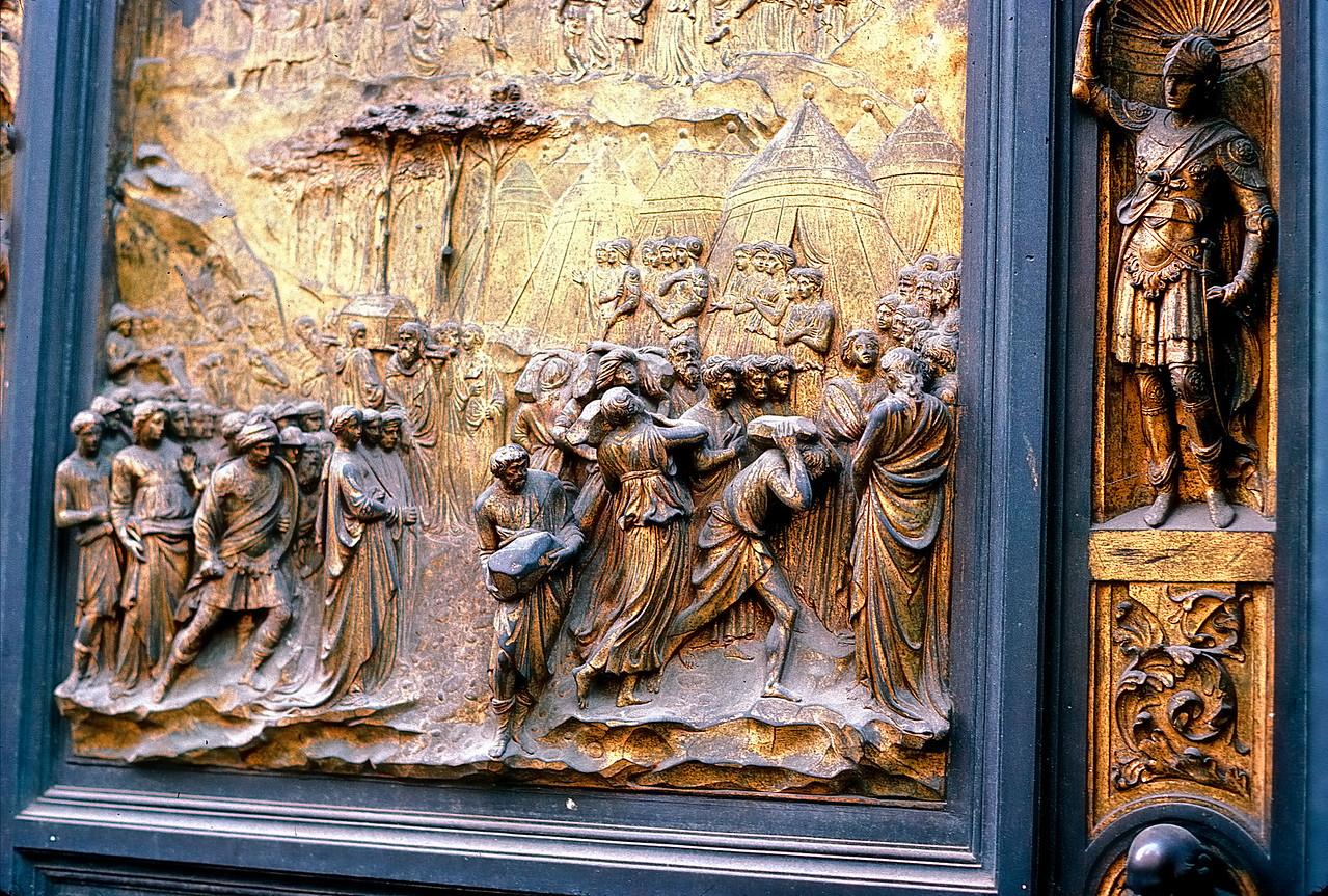Bapistry door detail - Florence, Italy