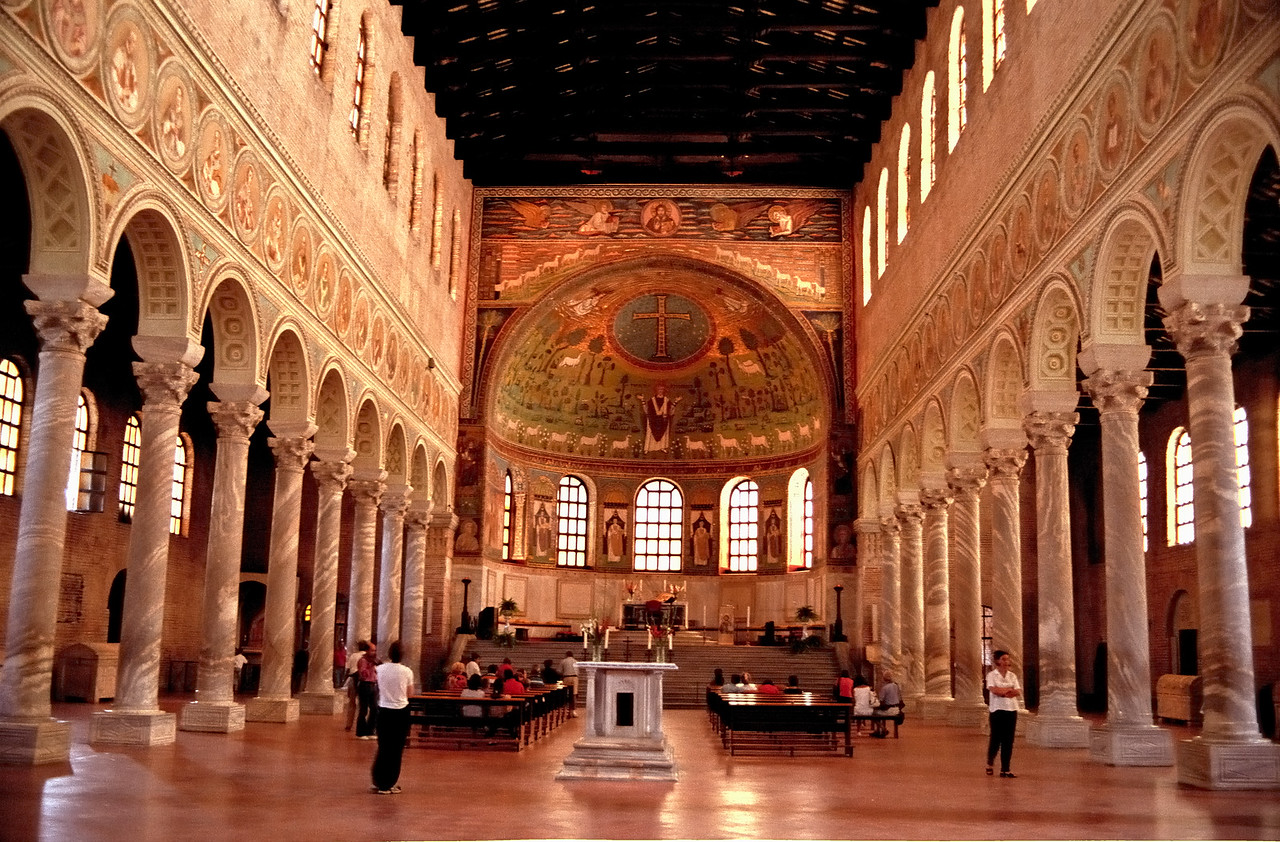 Church interior - Assisi, Italy